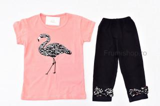 Compleu 2 piese Flamingo (piersicuta)