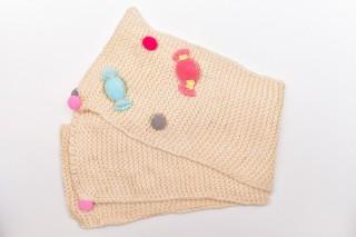 Fular Tricotat Bombonele-Bej