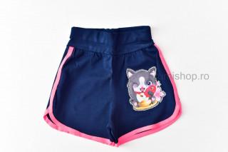 Pantaloni scurti Pisicuta (roz)