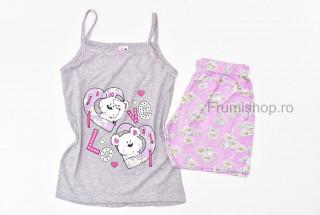 Pijamale dama pentru vara - Love ( Gri)