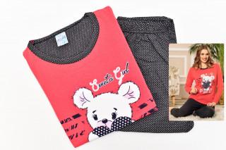 Pijamale Dama- Ursulet culoare Corai