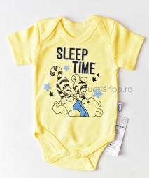 Body maneca scurta Sleep Time (galben)