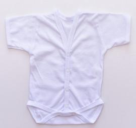 Body Nou Nascut - maneca scurta (alb)