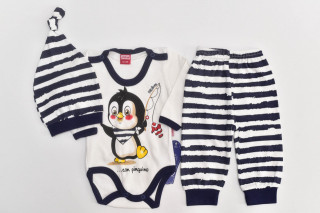 Compleu 3 piese Pinguin