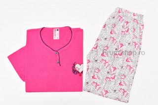 Pijamale dama pentru vara - MARIMI MARI (fucsia) - Inima