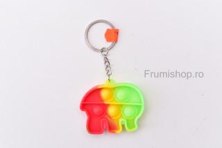 Breloc cu Pop-it - Elefantel