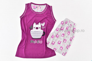 Pijamale dama pentru vara - Pisicuta