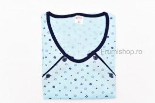 Camasa Maternitate - Maneca scurta (bleu)