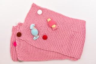Fular Tricotat Bombonele