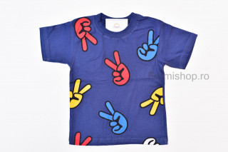 Tricou Fingers (bleumarin)