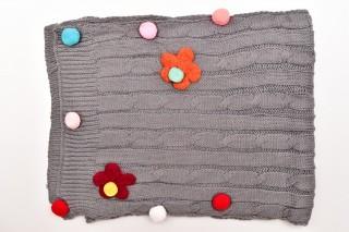 Fular Tricotat Floricele