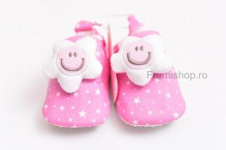 Pantofiori bebelusi - Stelute (roz)