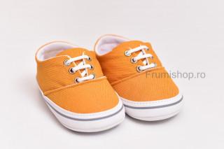 Pantofiori sport bebelusi (galben inchis)