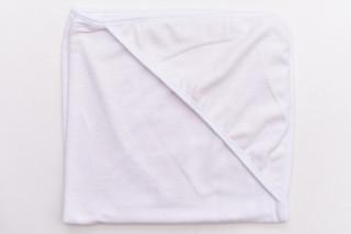 Prosop alb cu gluga - 75x75 cm