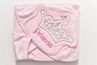 Prosop cu gluga - Princess (roz) - 90x80 cm