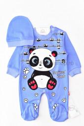 Salopeta Panda (albastru)