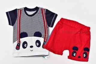 Set 2 piese Panda (rosu)
