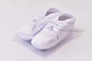 Pantofiori satin - I * daddy (alb)