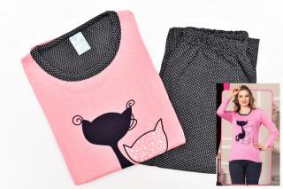 Pijamale Dama - Pisica culoare Piersicuta