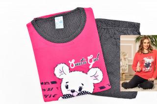 Pijamale Dama- Ursulet culoare Fucsia
