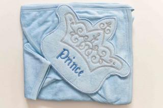 Prosop cu gluga - Prince (bleu) - 90x80 cm