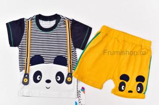 Set 2 piese Panda (galben)