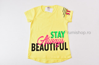 Tricou Beautiful (galben)