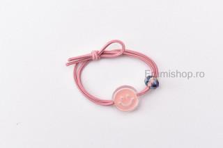 Elastic pentru par - Smile (roz somon)
