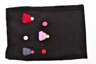 Fular Tricotat Buline-Negru