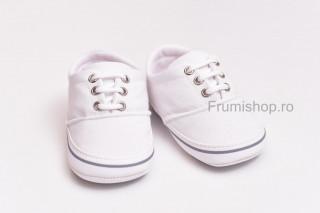 Pantofiori sport bebelusi (alb)