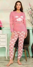 Pijamale Dama-Norisori culoare Piersicuta
