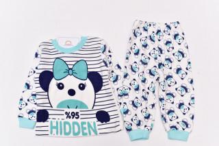 Pijamale Panda (verde menta)
