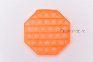 Pop-it Octogon (portocaliu translucid)