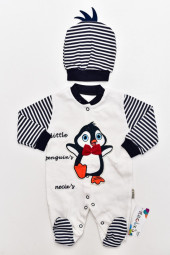 Salopeta Pinguin - cu caciula