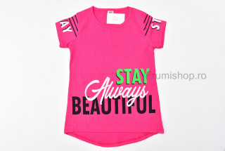 Tricou Beautiful (fucsia)