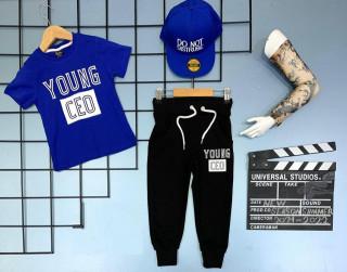 Compleu 4 piese Young CEO (albastru)