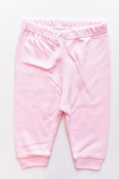 Pantaloni bumbac cu Manseta - Roz