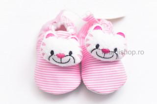Pantofiori bebelusi - Pisicute (roz)