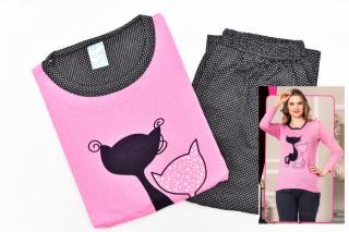 Pijamale Dama - Pisica culoare Roz