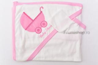 Prosop Baby Shower (roz) - 100x75 cm