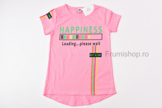 Tricou Happiness (roz)
