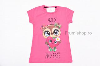 Tricou Inima (roz corai)