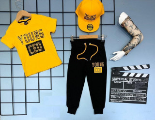Compleu 4 piese Young CEO (galben)