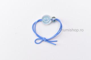 Elastic pentru par - Smile (albastru)