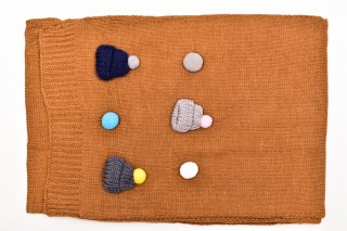 Fular Tricotat Buline-Maro
