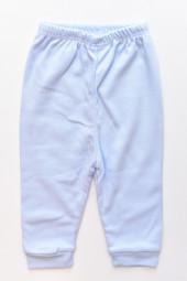 Pantaloni bumbac cu Manseta- albastru