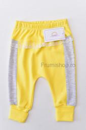 Pantaloni cu danteluta
