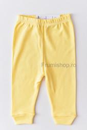 Pantaloni cu manseta (galben)