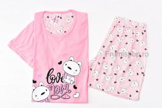 Pijamale dama pentru vara (roz) - Love Mom