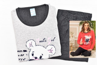 Pijamale Dama- Ursulet culoare Gri